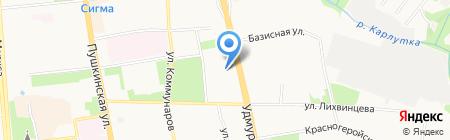Удмуртвторцветмет АО на карте Ижевска