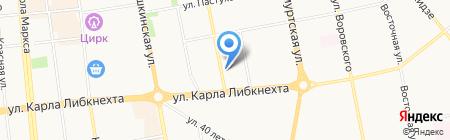 Уралпромстрой на карте Ижевска