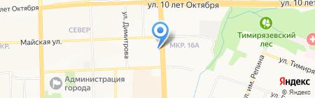 Счастливый тур на карте Ижевска