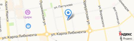 Детский сад №23 на карте Ижевска