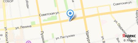 Гала на карте Ижевска