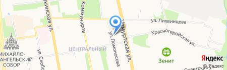 Студент УдГУ на карте Ижевска