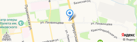 Бруно на карте Ижевска