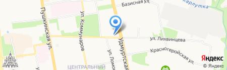 Ikea Club на карте Ижевска
