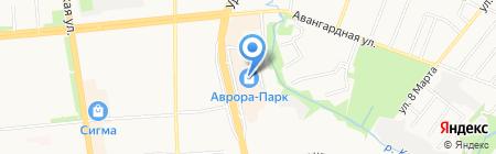 Аврора на карте Ижевска