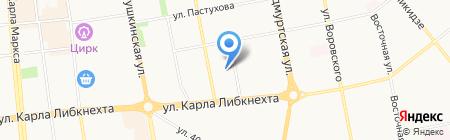 Ультра Веб на карте Ижевска