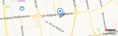 Средняя общеобразовательная школа №48 на карте Ижевска