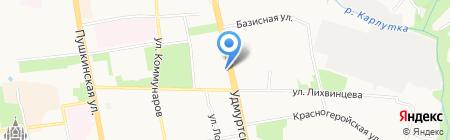 Велопрофи на карте Ижевска