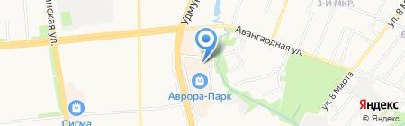 Рантье на карте Ижевска
