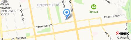 Троицкий на карте Ижевска
