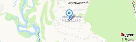 Ижевский плодопитомник на карте Ижевска