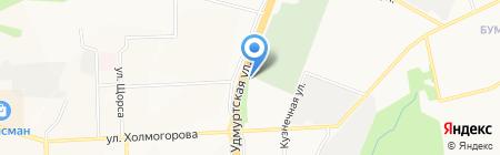 Шиномонтаж на карте Ижевска