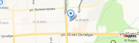 Мастерская по ремонту обуви и часов на карте Ижевска