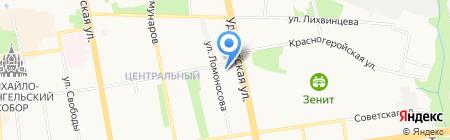 Миттек на карте Ижевска