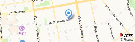 Детский сад №119 на карте Ижевска