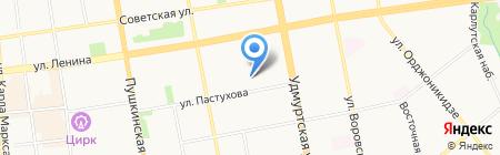 Ёлочка на карте Ижевска