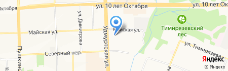 Anex Tour на карте Ижевска