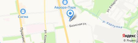 Городская поликлиника №7 на карте Ижевска