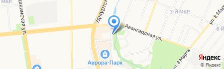 Декорация на карте Ижевска