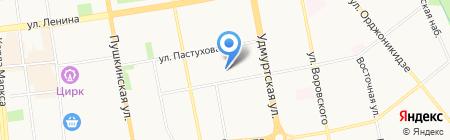 Детский сад №99 на карте Ижевска