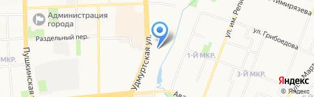 Газовик-2 на карте Ижевска