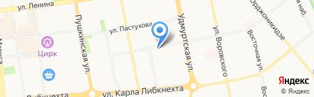 Зеркало на карте Ижевска