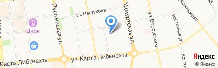 Детский сад №183 на карте Ижевска