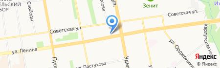 Нота на карте Ижевска