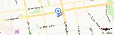 Вилла-Эдит на карте Ижевска