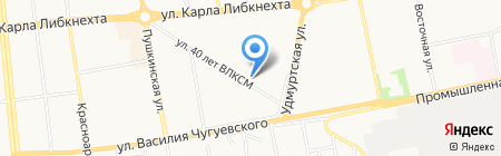 Луч на карте Ижевска