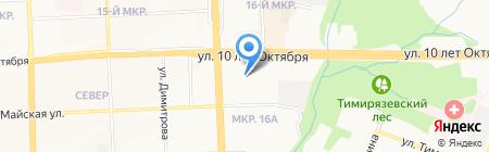 Монплезир на карте Ижевска