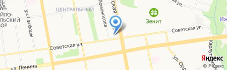 Мади на карте Ижевска