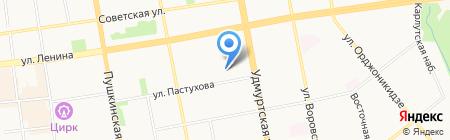 Раздолье на карте Ижевска
