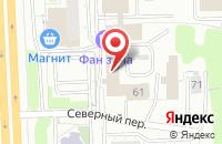 Схема проезда до компании Л-Шанс в Ижевске