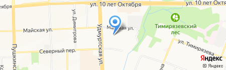 Рэмо на карте Ижевска