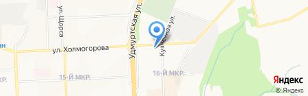 Участковый пункт полиции №35 на карте Ижевска