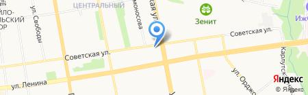 УФСИН по Удмуртской Республике на карте Ижевска
