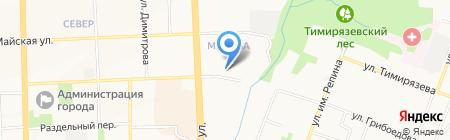 Демидовские окна на карте Ижевска