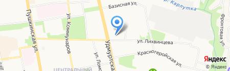 Центр дошкольного образования и воспитания Индустриального района на карте Ижевска