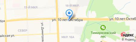 Барвинок на карте Ижевска