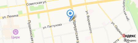 Эколайн на карте Ижевска