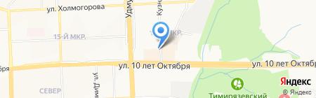 Глянец на карте Ижевска