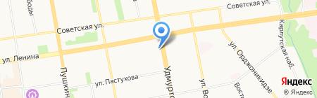 Инспекция государственного строительного надзора при Министерстве строительства на карте Ижевска
