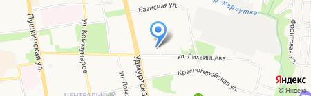 Алиса на карте Ижевска
