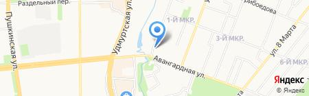 Мясное подворье на карте Ижевска