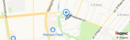 Ясно на карте Ижевска