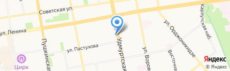 Наф-Наф на карте Ижевска