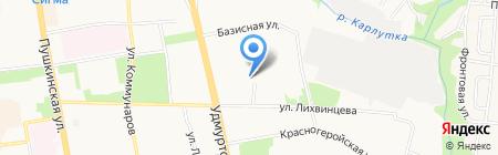 Текан тур на карте Ижевска