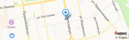Средняя общеобразовательная школа №58 на карте Ижевска