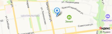 Юниор на карте Ижевска